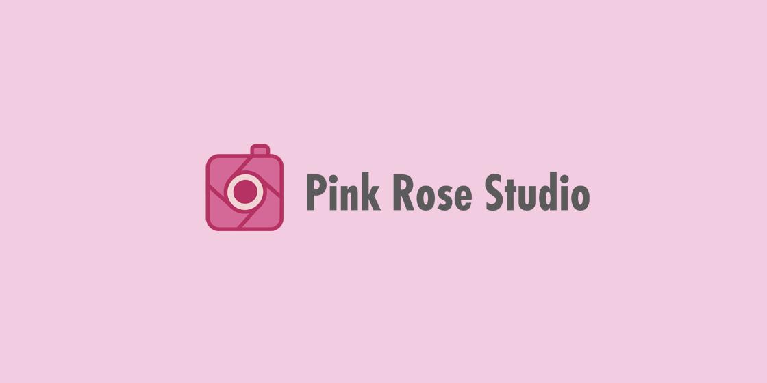 Tvorba loga Pink Rose Studio
